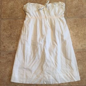 Strapless Linen J. Crew Dress